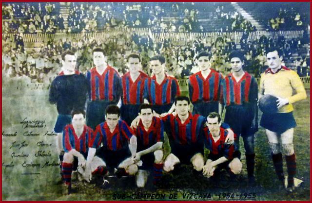 Plantilla San Pedro. Sub Campeon de Vizcaya. 1954-55.