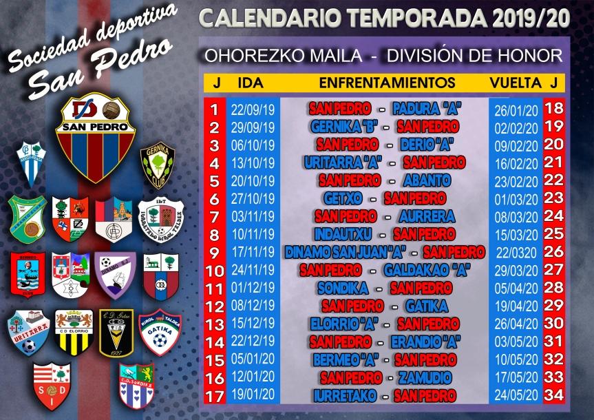 Calendario 2020 Bizkaia.S D San Pedro Club De Futbol De Sestao Fundado En 1923